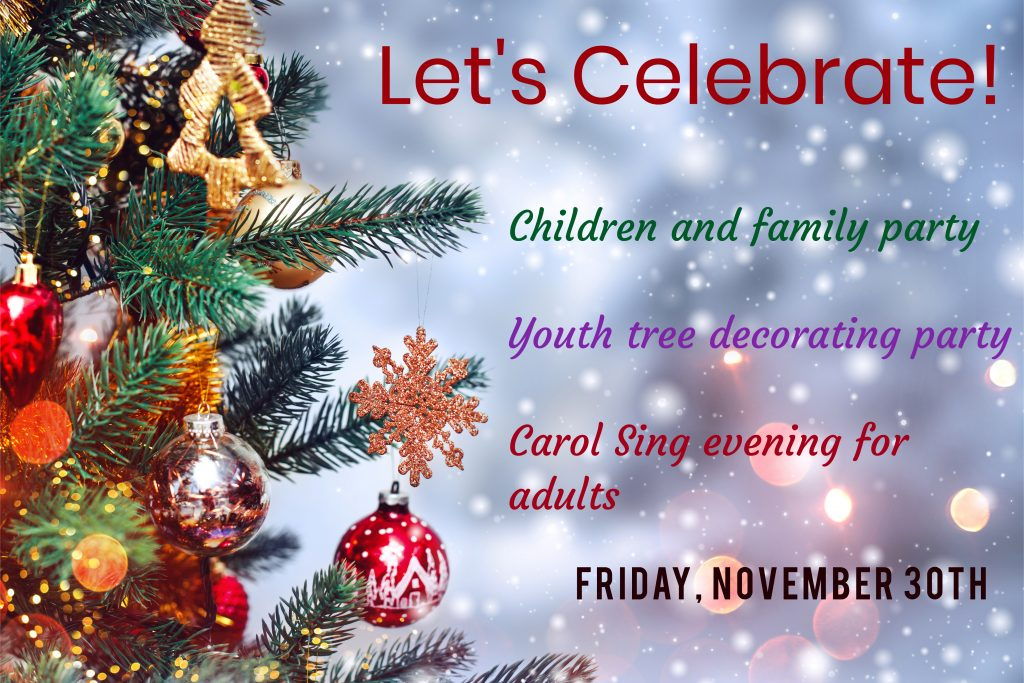 children youth adults lets gather together by the christmas tree in the sanctuary at 645 pm for family carol favourites - How Does Canada Celebrate Christmas