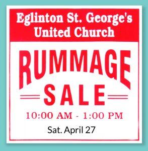 Spring Rummage Sale – Eglinton St  George's United Church
